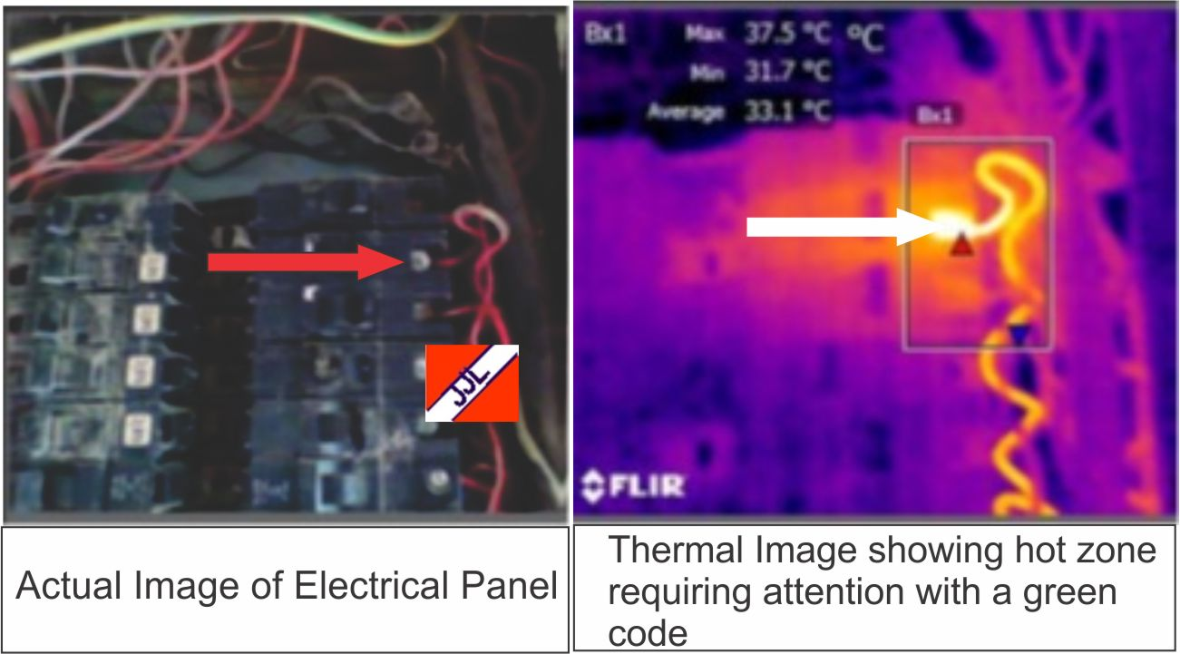 Thermographic inspection of electrical panel by JOC & JOC LTD
